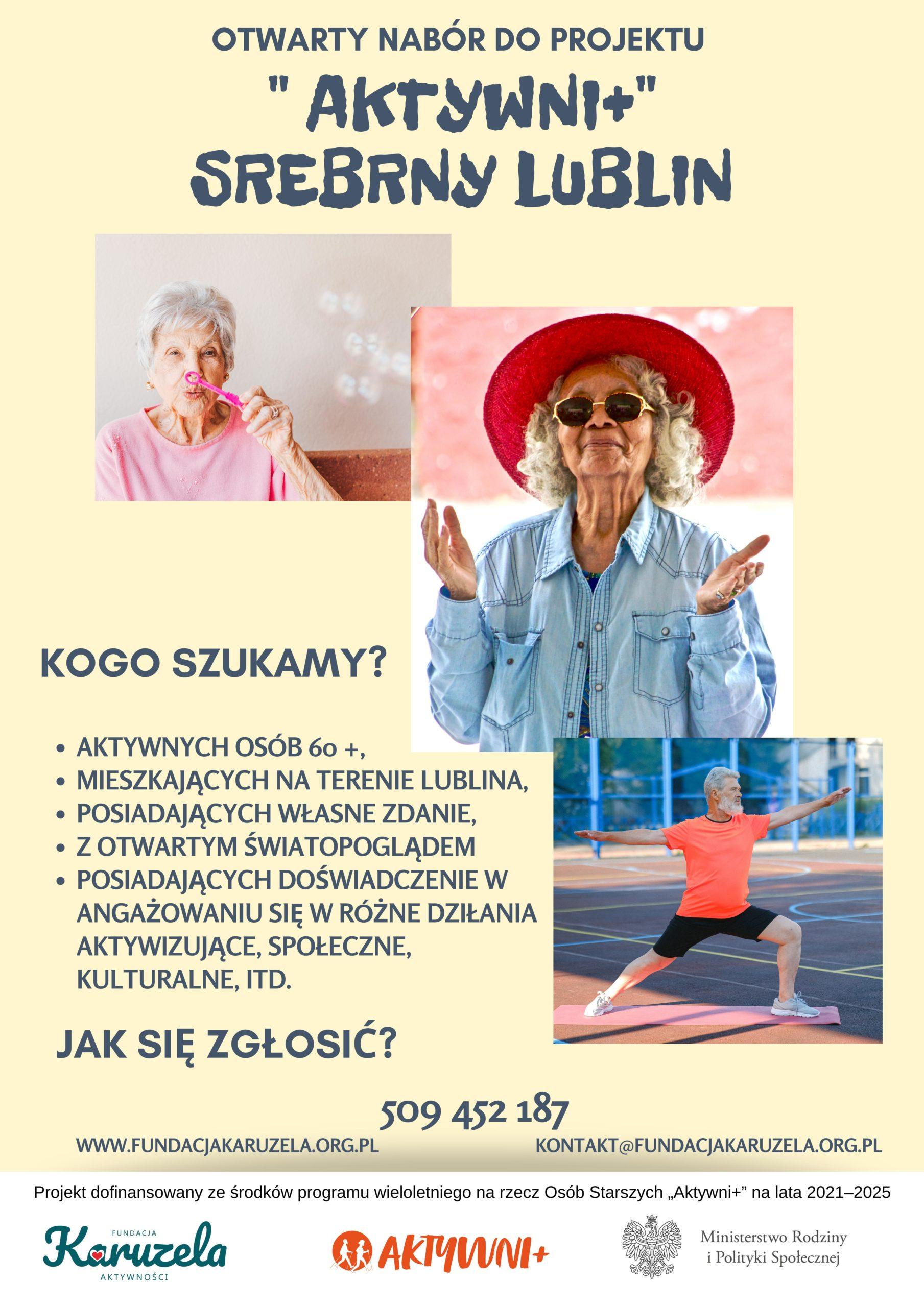 plakat przedstawiający seniorw